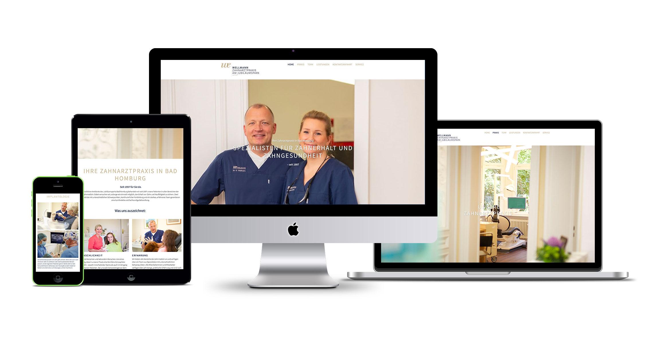 Responsive Website für die Zahnarztpraxis Dr. Wellmann