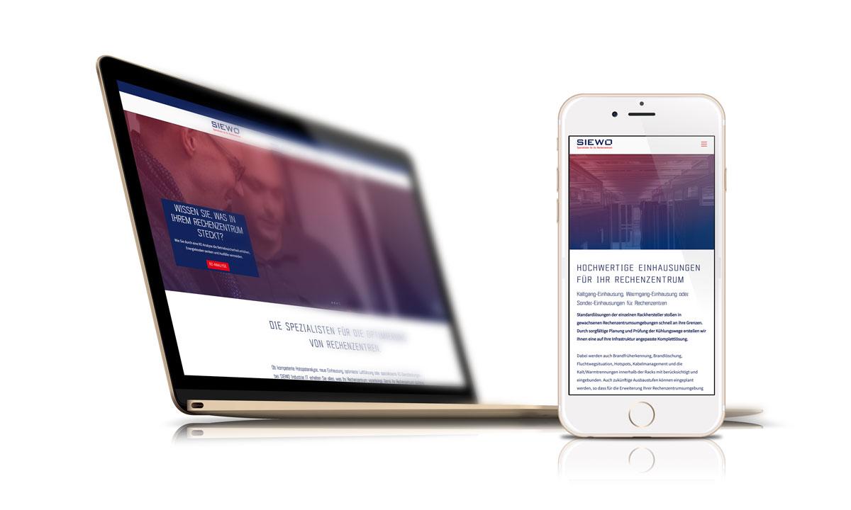 Website für den IT-Dienstleister SIEWO Industrie IT GmbH, Erkelenz